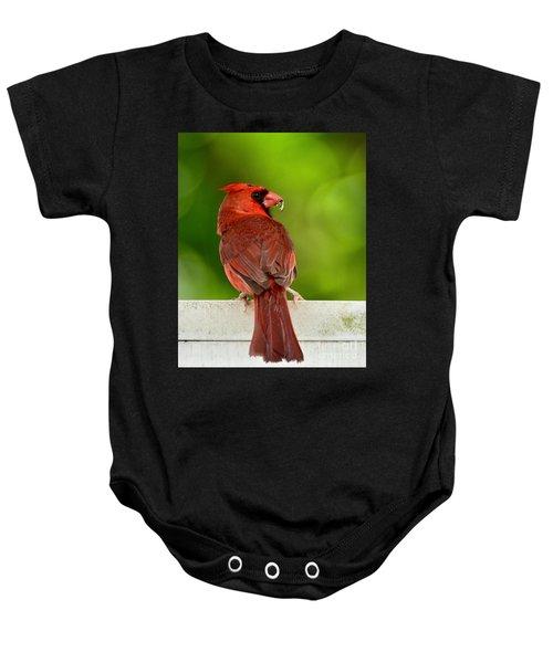 Cardinal Red Baby Onesie