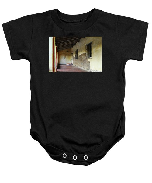 Baby Onesie featuring the photograph Carmel Mission Architecture by Renee Hong