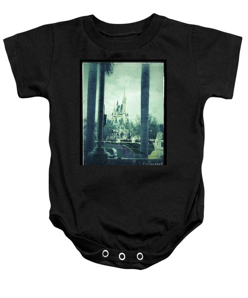 Castle Between The Palms Baby Onesie