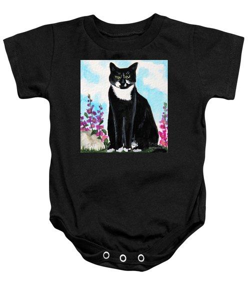 Cat In The Garden Baby Onesie
