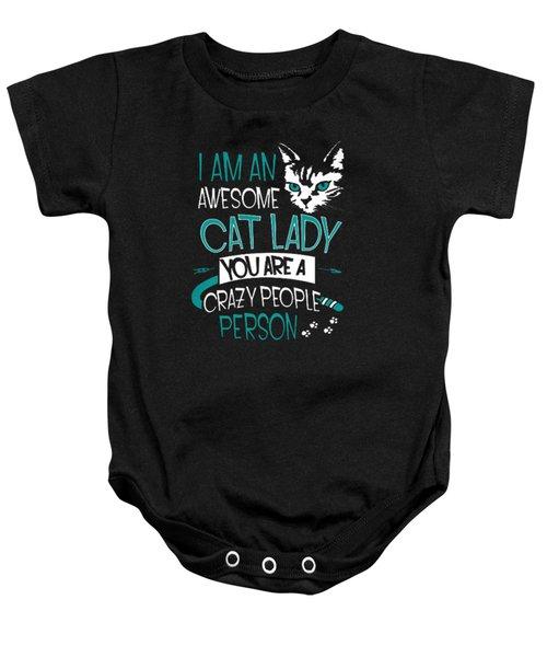 Cat Lady Baby Onesie by Jackie Robinson