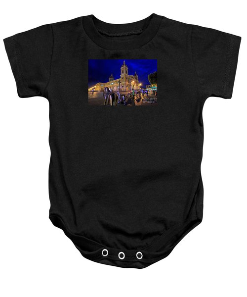 Cathedral Of Granada Shines Brightly Baby Onesie