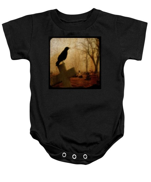 Cawing Night Crow Baby Onesie