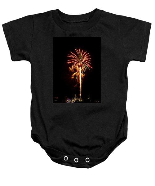 Baby Onesie featuring the photograph Celebration Fireworks by Bill Barber
