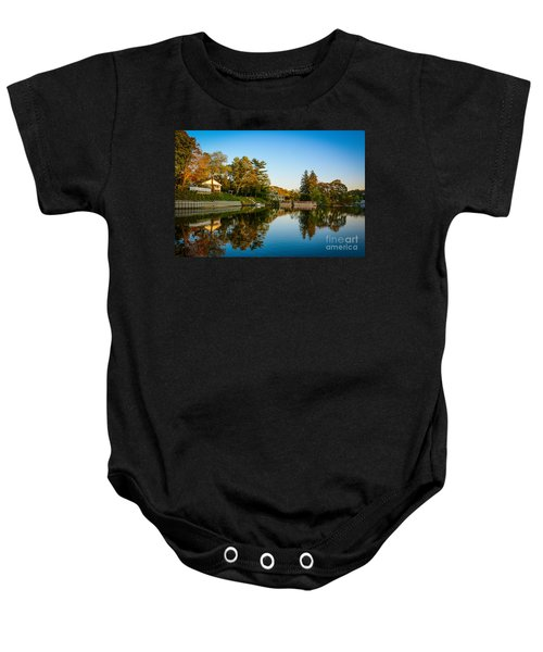 Centerport Harbor Autumn Colors Baby Onesie