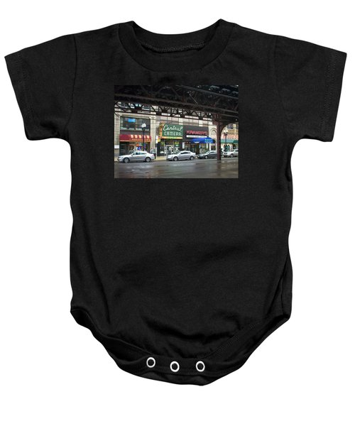 Central Camera On Wabash Ave  Baby Onesie