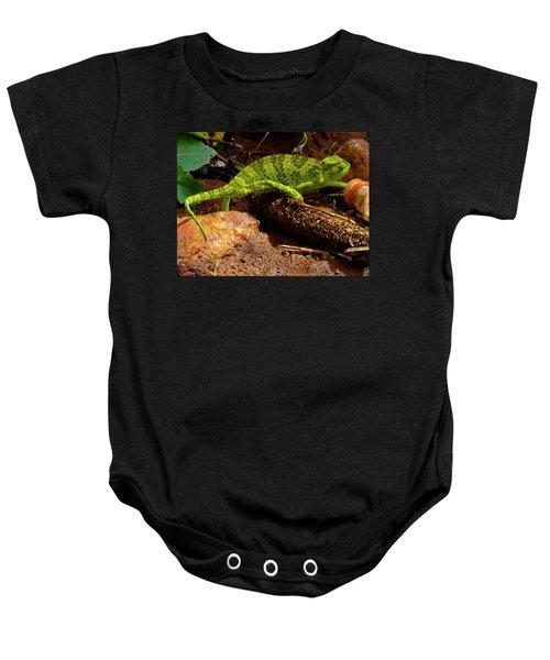 Chameleon Struts His Stuff Baby Onesie