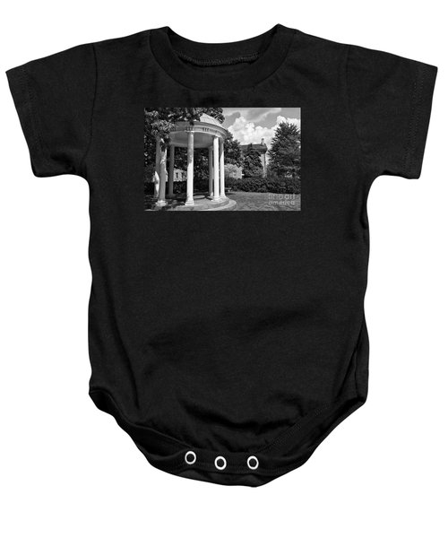 Chapel Hill Old Well In Black And White Baby Onesie