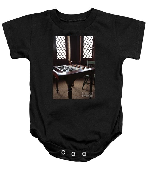 Checkers Table At The Lincoln Cottage In Washington Dc Baby Onesie
