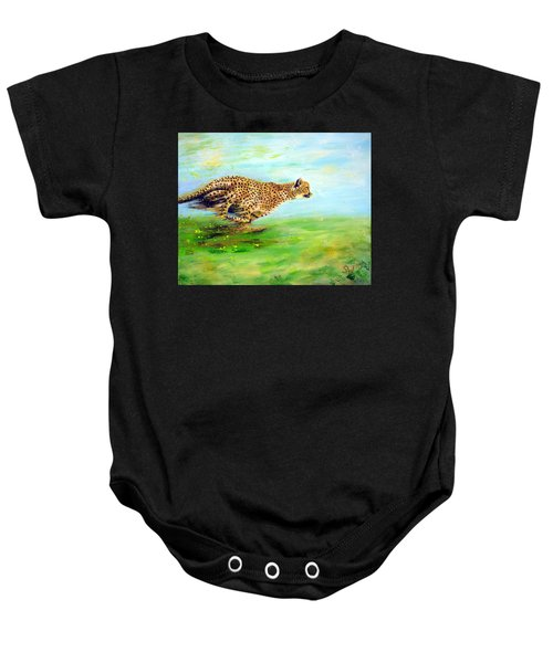 Cheetah At Speed Baby Onesie