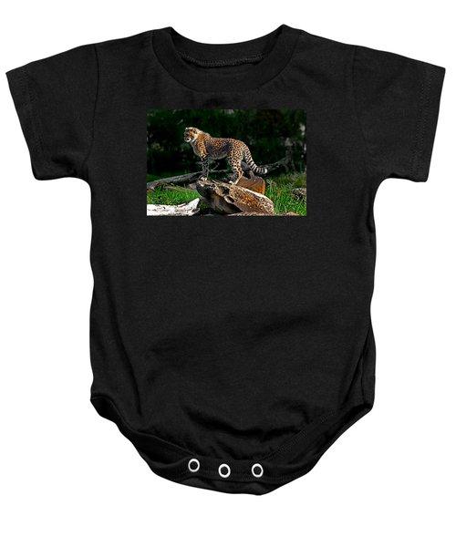 Cheetah Cub Finds Her Pride Rock Baby Onesie