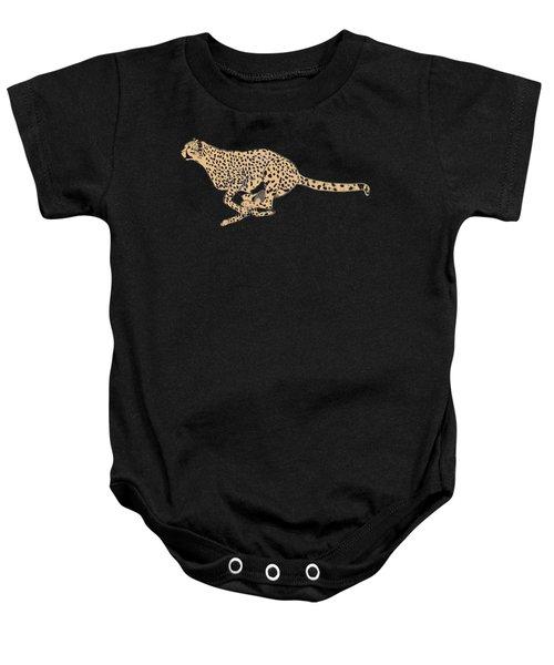 Cheetah Flash Baby Onesie by Teresa  Peterson