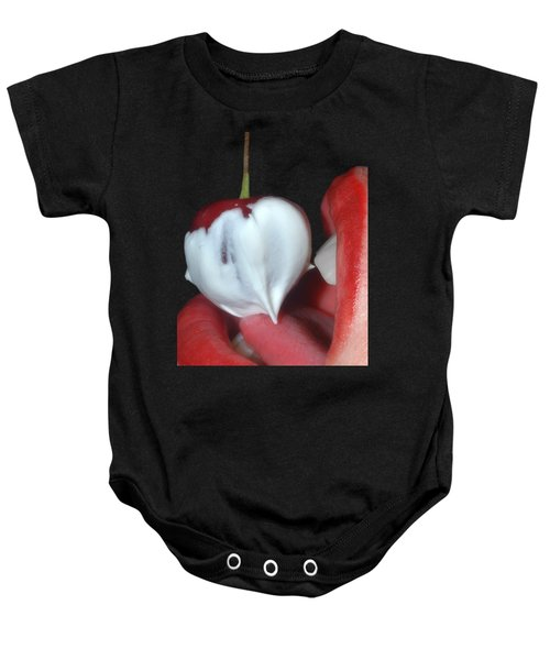 Cherries And Cream Baby Onesie