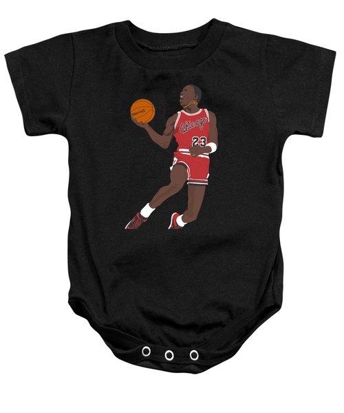 Chicago Bulls - Michael Jordan - 1985 Baby Onesie by Troy Arthur Graphics