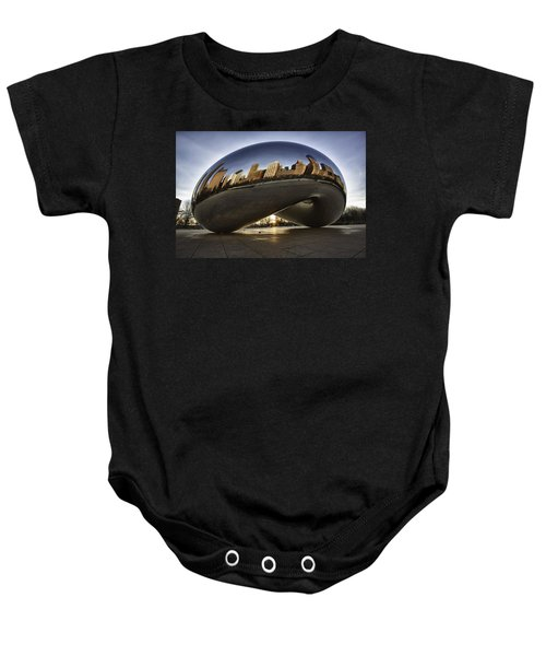 Chicago Cloud Gate At Sunrise Baby Onesie