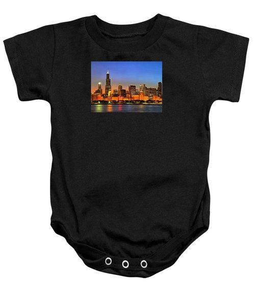 Chicago Dusk Baby Onesie