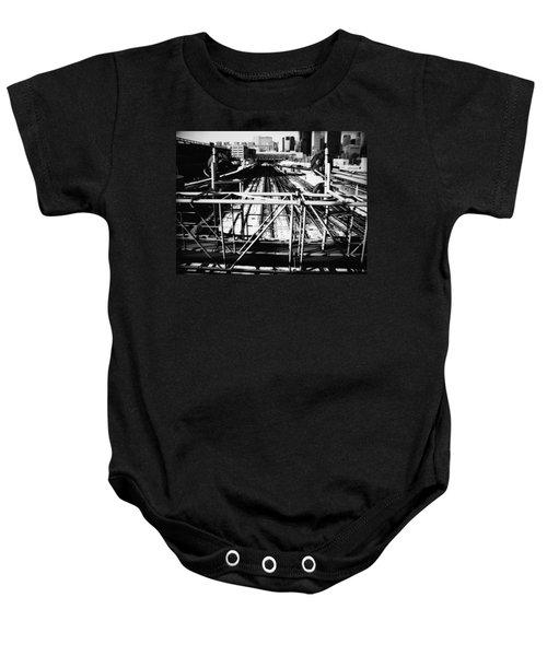 Chicago Railroad Yard Baby Onesie