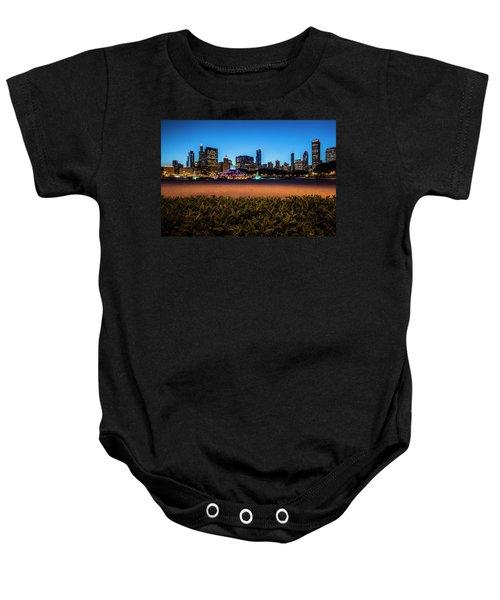 Chicago's Buckingham Fountain At Dusk  Baby Onesie