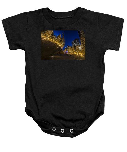 Chicago's Millenium Park At Dusk Baby Onesie