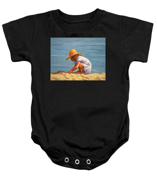 Child Playing In The Sand Baby Onesie