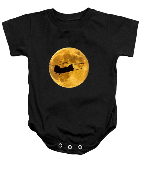 Chinook Moon Color .png Baby Onesie