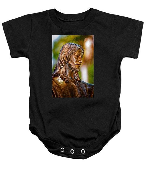 Christ In Bronze Baby Onesie