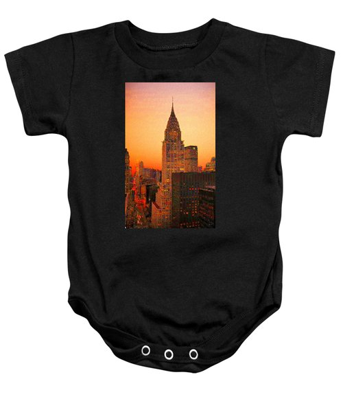 Baby Onesie featuring the digital art Chrysler Building by Charmaine Zoe