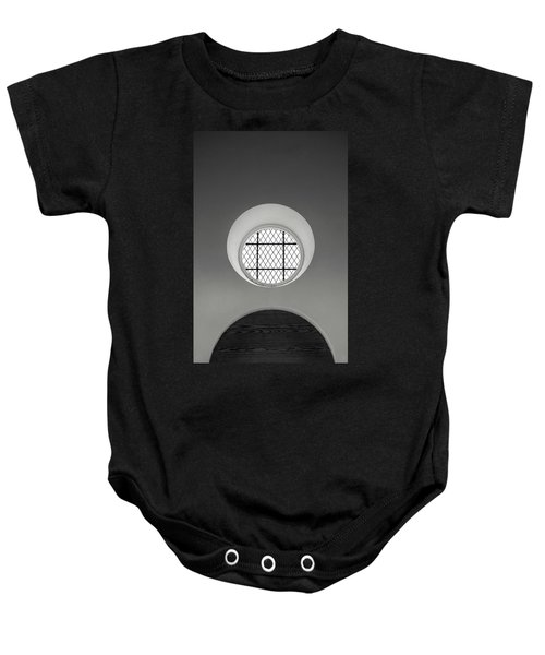 Church Window In Black And White Baby Onesie