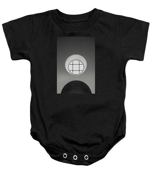Church Window In Black And White Baby Onesie