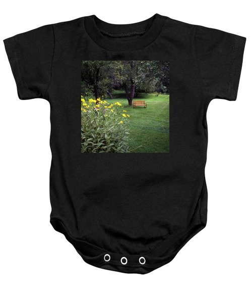 Churchyard Bench - Woodstock, Vermont Baby Onesie