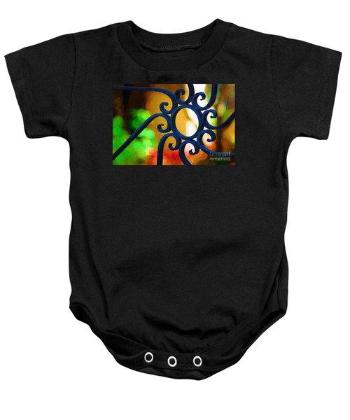 Circle Design On Iron Gate Baby Onesie