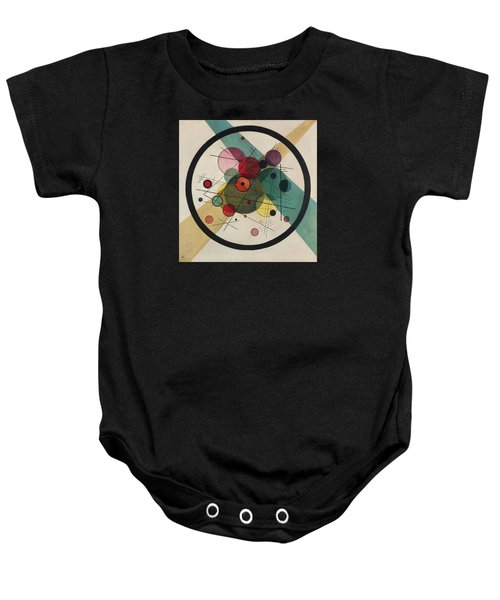 Circles In A Circle Baby Onesie