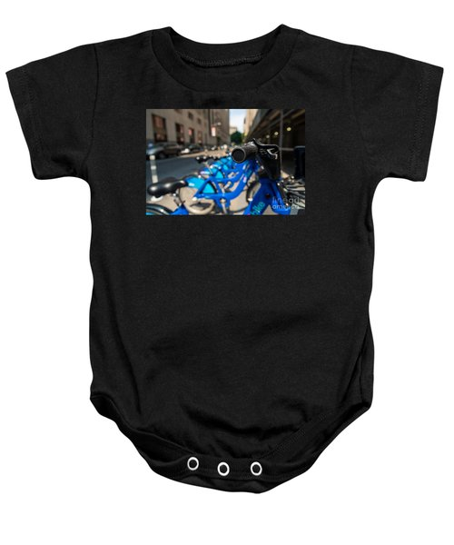 Citibike Handle Manhattan Color Baby Onesie