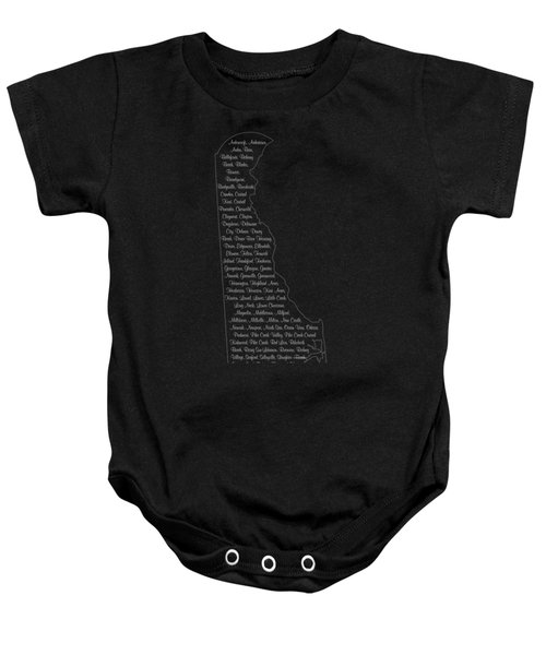 Cities And Towns In Delaware White Baby Onesie