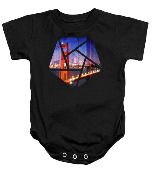 City Art Golden Gate Bridge Composing Baby Onesie