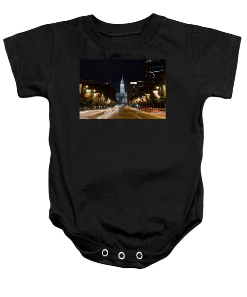 Baby Onesie featuring the photograph City Hall From The Parkway by Jennifer Ancker