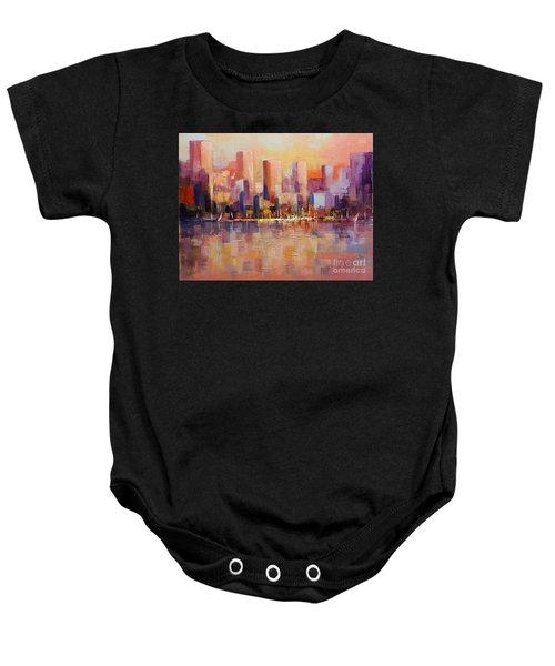 Cityscape 2 Baby Onesie