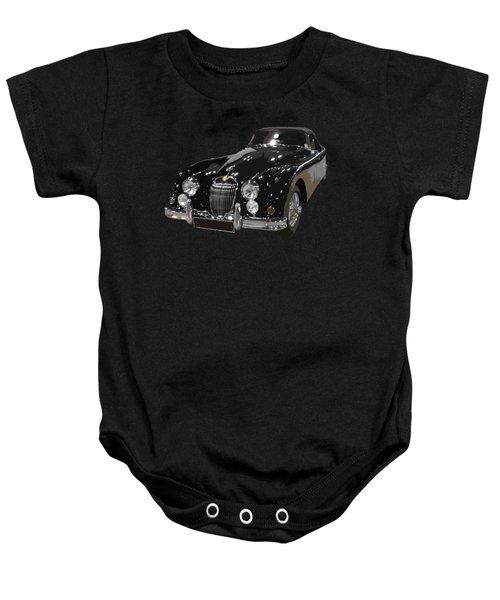 Classic Jaguar In Black Art Baby Onesie
