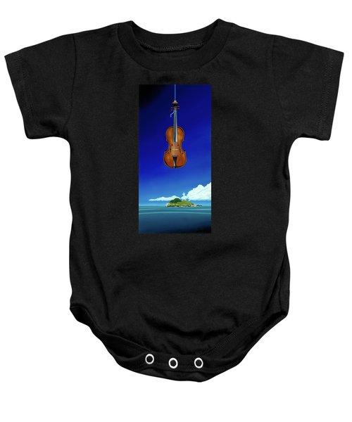 Classical Seascape Baby Onesie