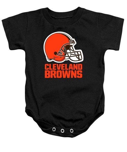 Cleveland Browns Translucent Steel Baby Onesie
