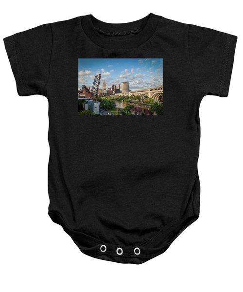 Cleveland Skyline Vista Baby Onesie