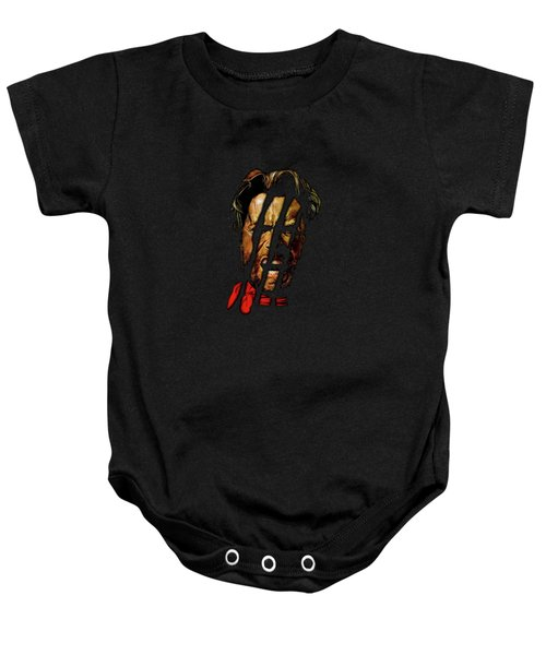 Baby Onesie featuring the mixed media Clint by David Dehner