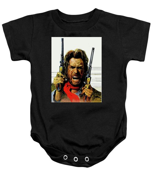 Baby Onesie featuring the mixed media Clint Eastwood As Josey Wales by David Dehner