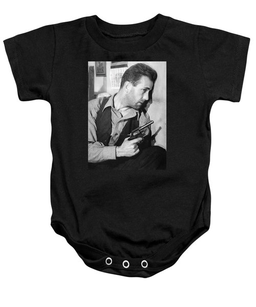 Close-up Up Of Humphrey Bogart As Duke Mantee With Gun The Petrified Forest 1936 Baby Onesie