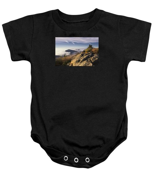 Clouds Over Grandmother Mountain Baby Onesie
