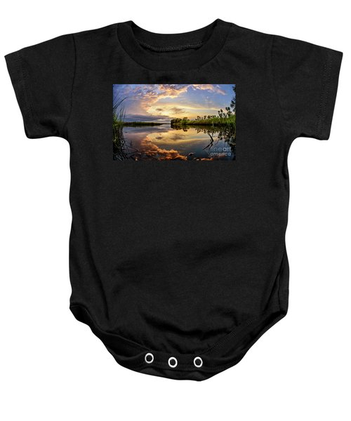 Clouds Reflections Baby Onesie