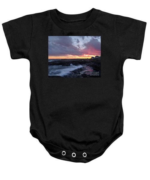 Coastal Sunset Cape Neddick - York Maine  -21056 Baby Onesie