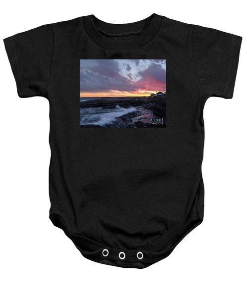 Coastal Sunset Cape Neddick - York Maine  -21056 Baby Onesie