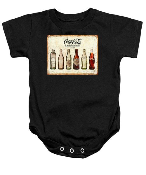 Coca-cola Bottle Evolution Vintage Sign Baby Onesie