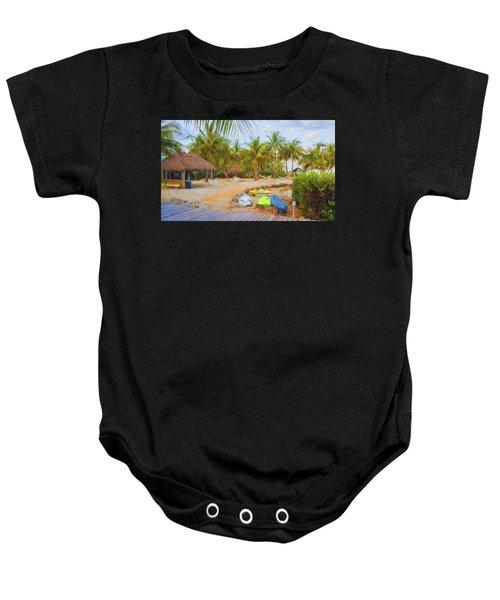 Coconut Palms Inn Beach Baby Onesie